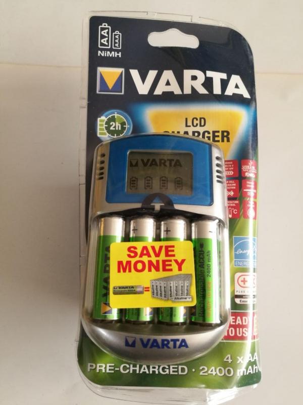 شارژر اتوماتیک سریع با نمایشگر LCD  مارک VARTA