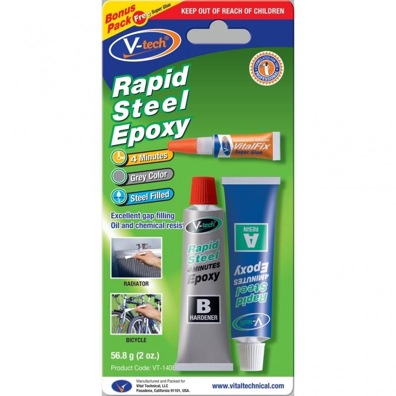 چسب دوقلو 4 دقیقه ای RAPID STEEL EPOXY مدل: VT-140