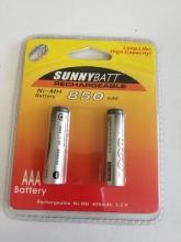باتری نیم قلمی سایز AAA قابل شارژ  - SUNNY BATT