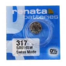 باتری سکه ای اکسید نقره - RENATA 317