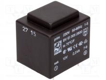 ترانس 220 به 12 ولت HAHN مدل: BV EI 305 2800