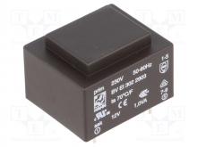 ترانس 220 ولت به 12 ولت HAHN مدل: BV EI 302 2903